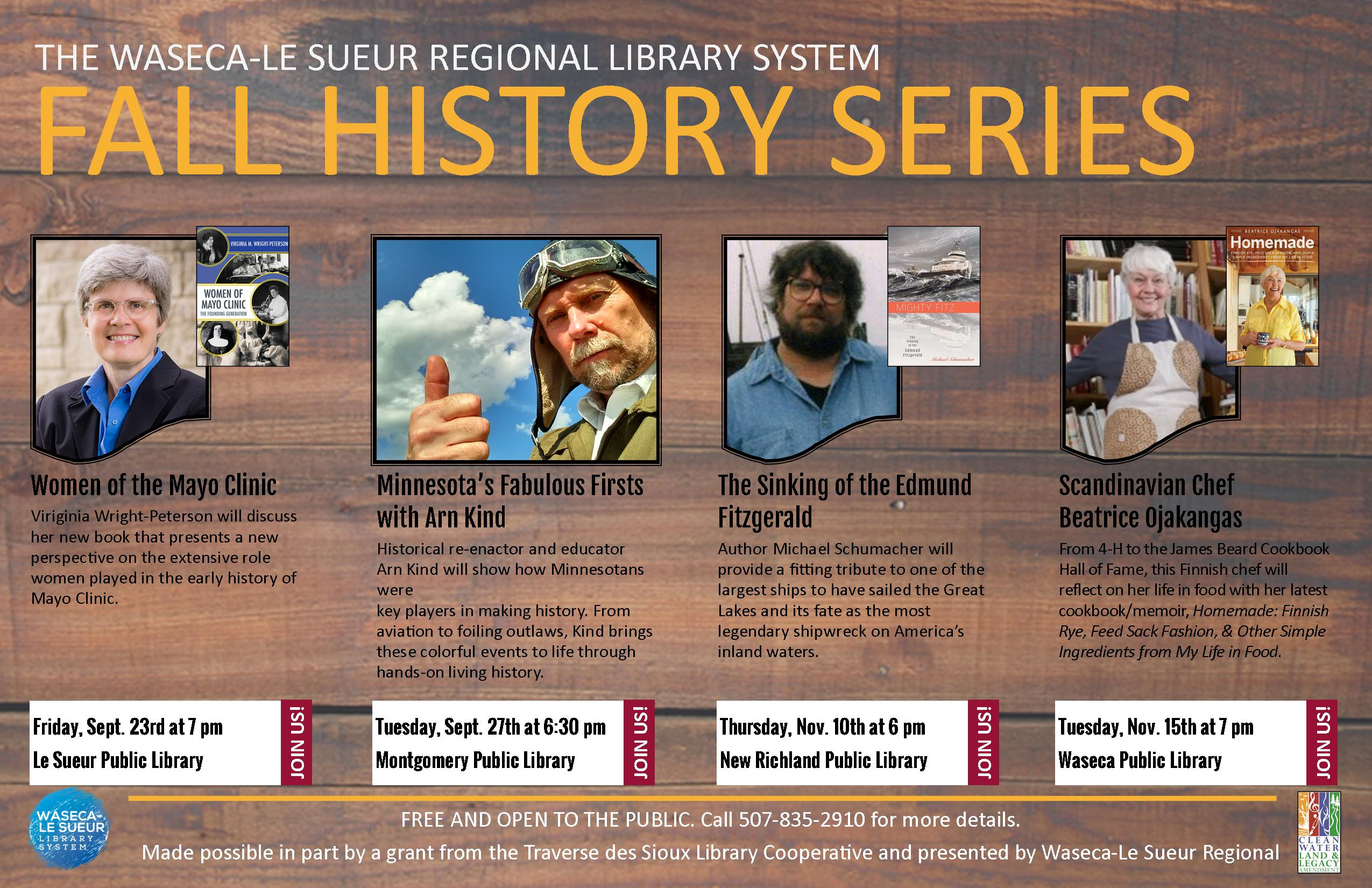 Announcing Our Fall History Series