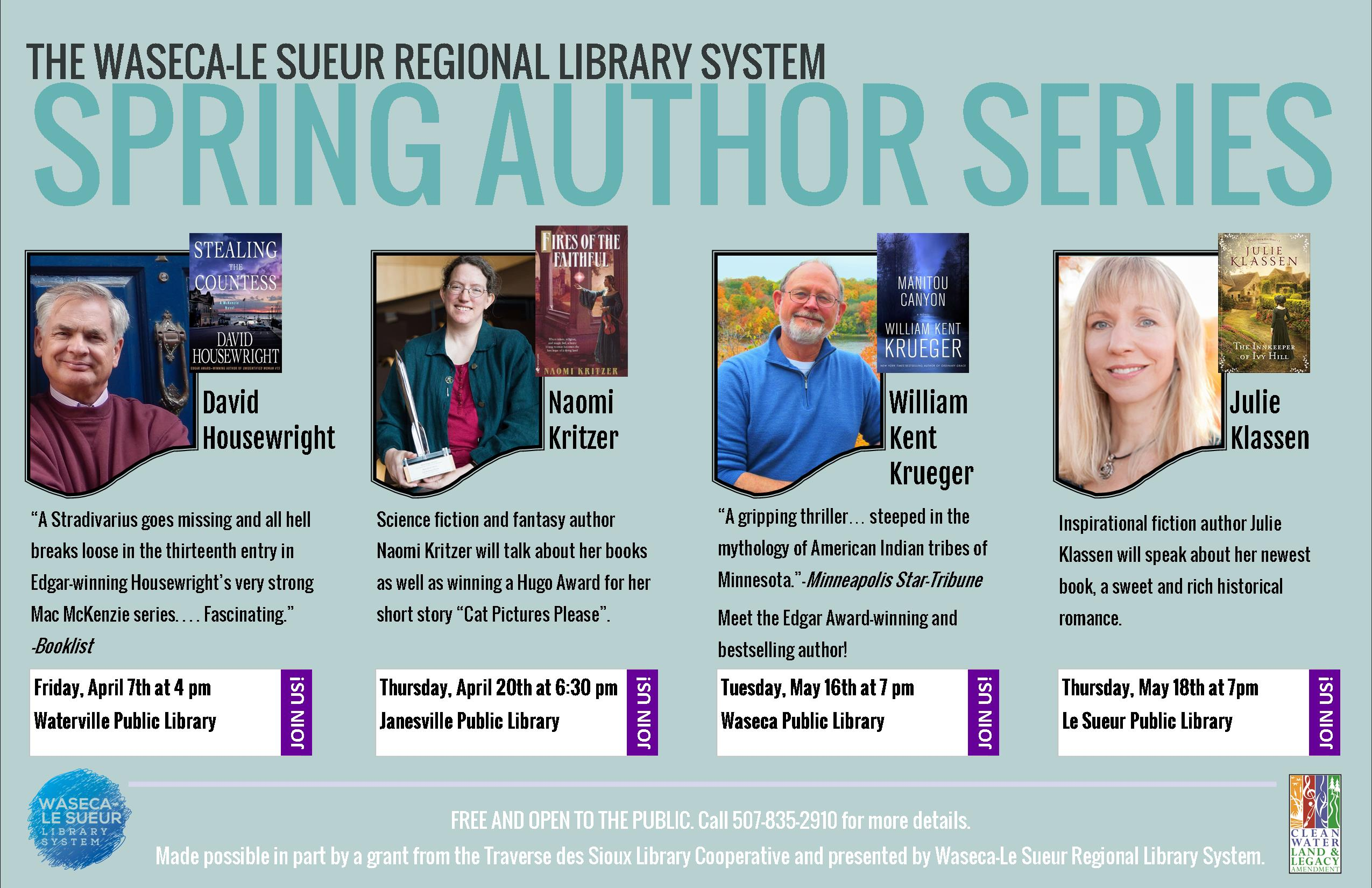 Announcing Our Spring Author Series