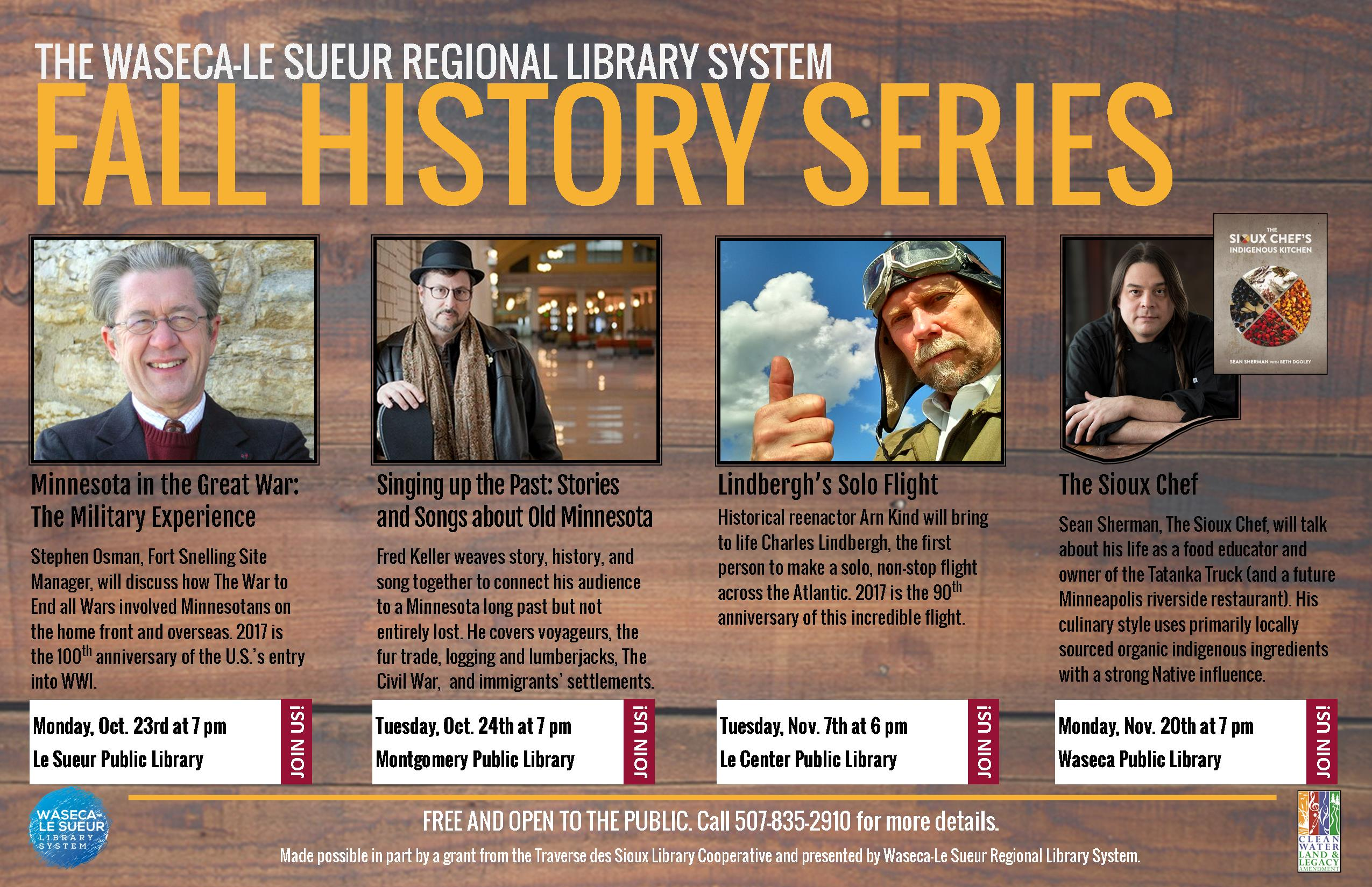 Waseca-Le Sueur Regional Library System Announces Fall History Series