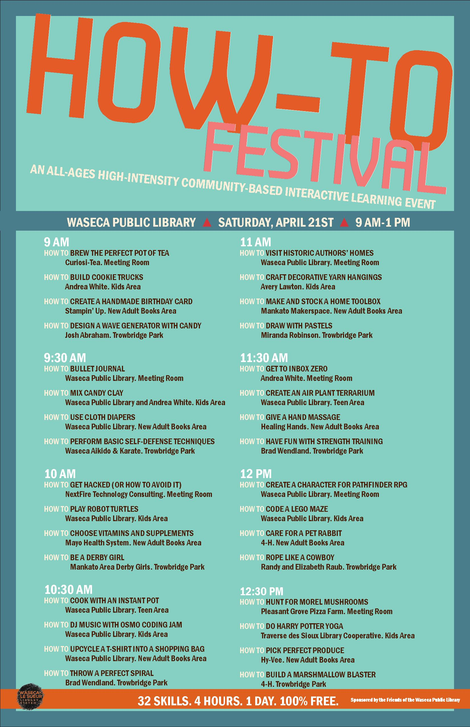 Waseca Public Library How-To Festival