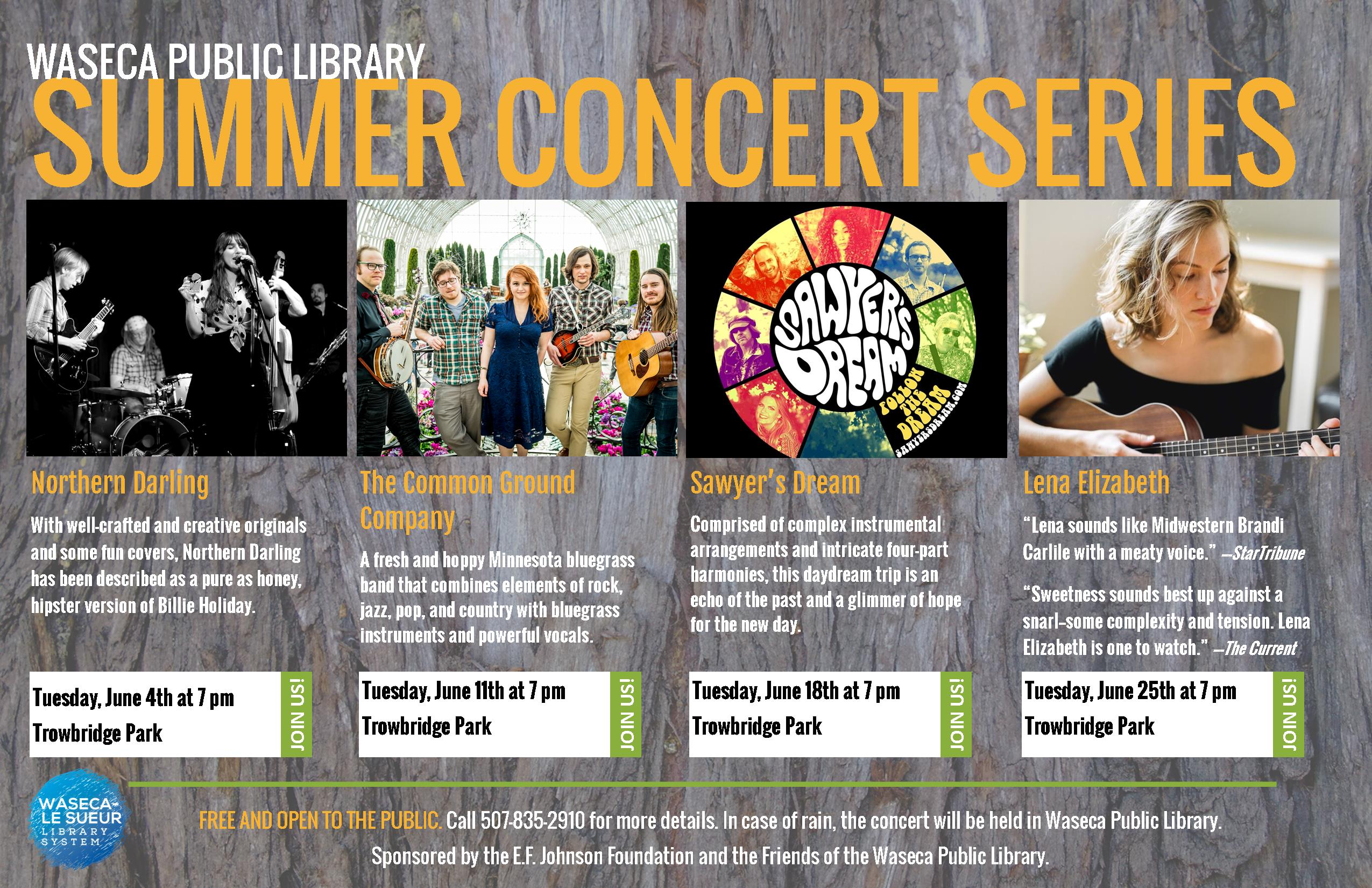 619 TLR Summer Concert Series Poster