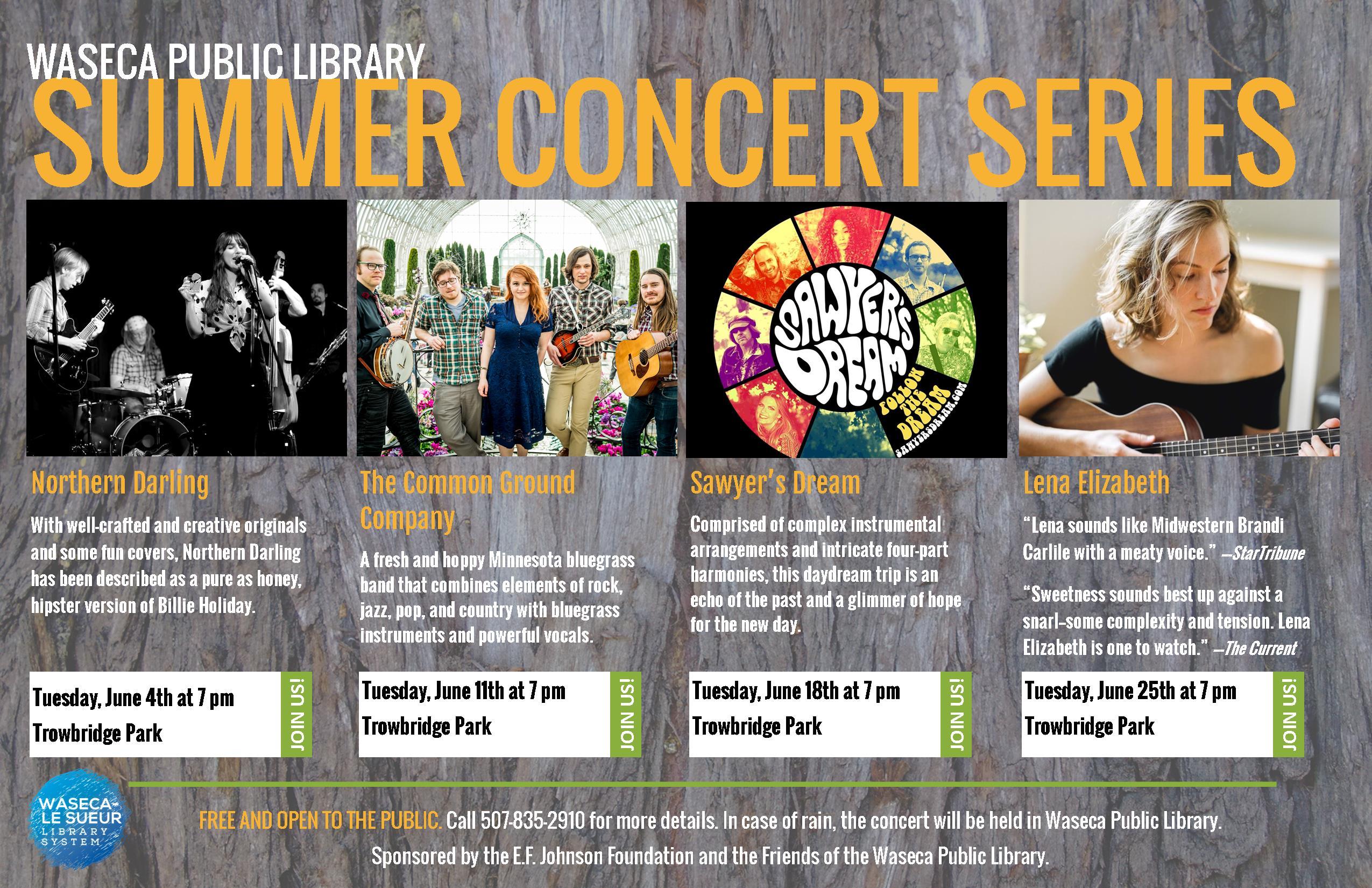 619 TLR Summer Concert Series Poster